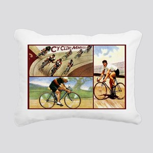 Vintage Cycling Cyclists Rectangular Canvas Pillow