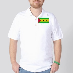 Sao Tome & Principe Flag Merchandise Golf Shirt
