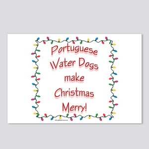 Merry Portuguese Water Postcards (Package of 8)