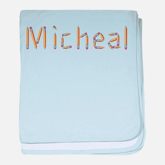 Micheal Pencils baby blanket