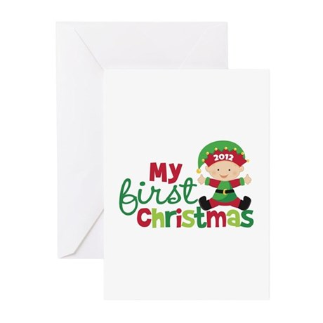 Baby Elf Babies First Christmas Greeting Cards (Pk