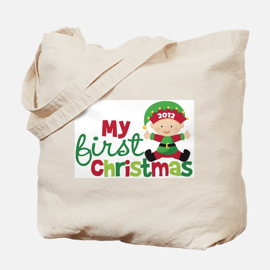 Baby Elf Babies First Christmas Tote Bag