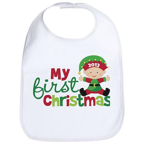 Baby Elf Babies First Christmas Bib