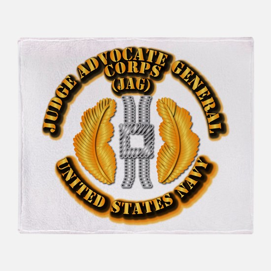 Navy - JAG Corps Throw Blanket