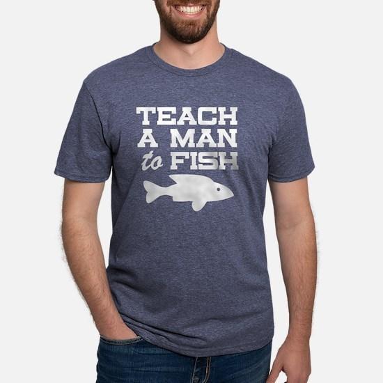 Teach a Man to Fish Mens Tri-blend T-Shirt