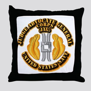 Navy - JAG Corps Throw Pillow