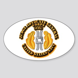 Navy - JAG Corps Sticker (Oval)
