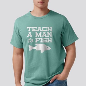 Teach a Man to Fish Mens Comfort Colors Shirt