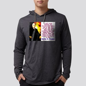 I Don't Know Whether - Harry Truman Mens Hoode