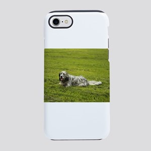 black and white setter on gras iPhone 7 Tough Case
