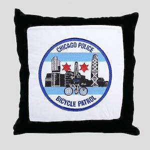 Chicago Bike Cops Throw Pillow