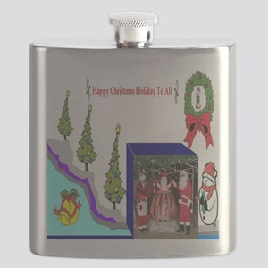 Happy Christmas Santa Flask