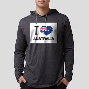 Love Australia Mens Hooded Shirt