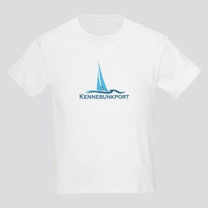Kennebunkport ME - Sailing Design. Kids Light T-Sh