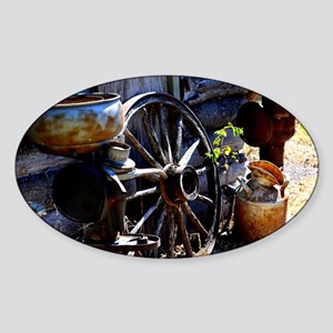 Rustic Times Sticker (Oval)