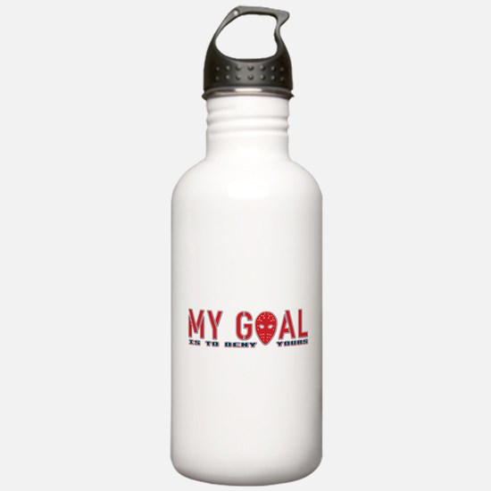 My Goal Is To Deny Yours (Hockey) Water Bottle