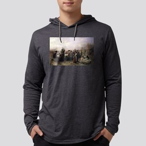 First Thanksgiving Vintage Paint Mens Hooded Shirt