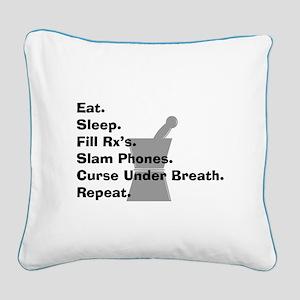 pharmacist Slam phones Square Canvas Pillow