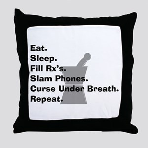 pharmacist Slam phones Throw Pillow