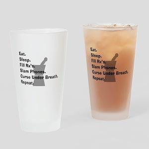 pharmacist Slam phones Drinking Glass