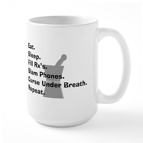 pharmacist Slam phones Large Mug