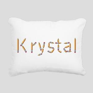 Krystal Pencils Rectangular Canvas Pillow