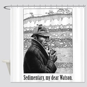 Sedimentary My Dear Watson Shower Curtain