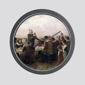 First Thanksgiving Vintage Painting Wall Clock