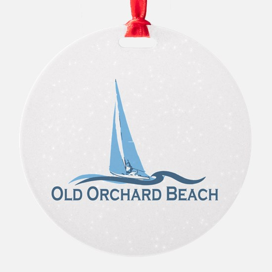 Old Orchard Beach ME - Sailing Design Ornament