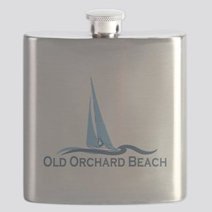 Old Orchard Beach ME - Sailing Design Flask