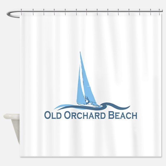 Old Orchard Beach ME - Sailing Design Shower Curta