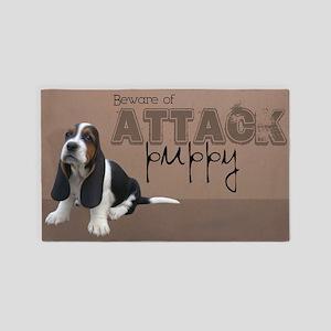 Basset Hound Puppy 3'x5' Area Rug