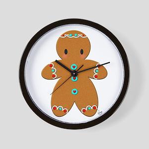 Ginberbread Christmas boy Wall Clock