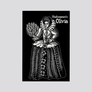 Shakespeare's Olivia Rectangle Magnet