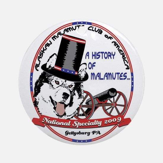 2009 National Specialty Logo Ornament (Round)