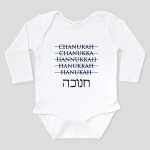Spelling Chanukah Hanukkah Hanukah Long Sleeve Inf