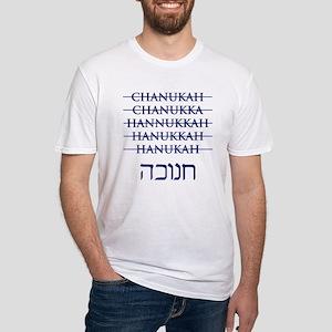 Spelling Chanukah Hanukkah Hanukah Fitted T-Shirt