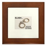 Stakeouts Framed Tile
