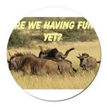 Oh dear, Oh Deer Round Car Magnet
