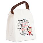 Vegan Christmas Wish Canvas Lunch Bag
