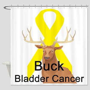 buck-bladder-cancer Shower Curtain
