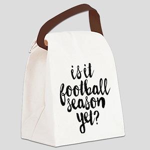 Is It Football Season Yet Canvas Lunch Bag