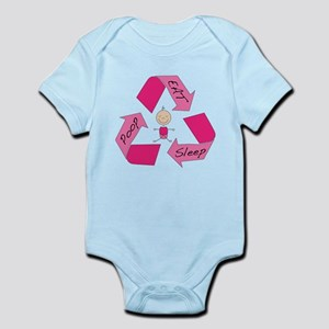 Eat, Sleep, Poop-Girl Infant Bodysuit