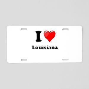 I Heart Love Louisiana Aluminum License Plate