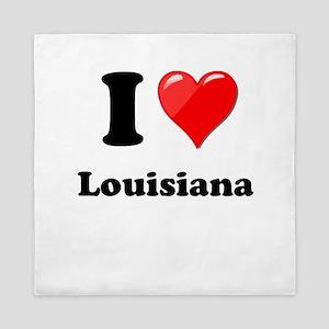 I Heart Love Louisiana Queen Duvet