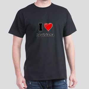 I Heart Love Louisiana Dark T-Shirt