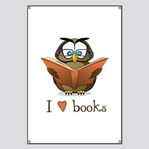 Book Owl I Love Books Banner