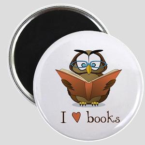 Book Owl I Love Books Magnet