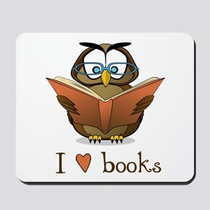 Book Owl I Love Books Mousepad
