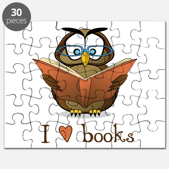 Book Owl I Love Books Puzzle